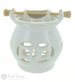 Ceramic White Hanging Pot Oil Burner