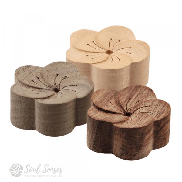 Essential Oil Aromatherapy Wooden Flower Diffuser - Trio Set