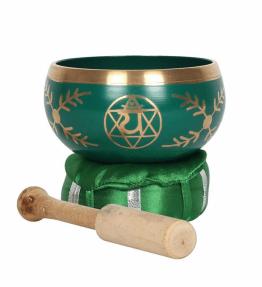Tibetan Brass Singing Bowl - 4th Green Heart Chakra Anahata