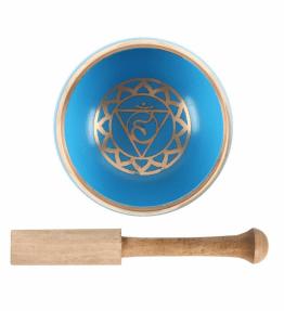 Tibetan Brass Singing Bowl - 5th Turquoise Throat Chakra Vishuddha