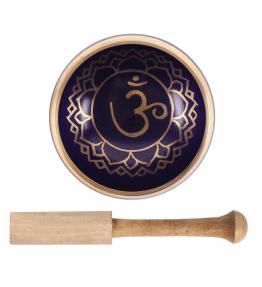 Tibetan Brass Singing Bowl - 7th Dark Purple Crown Chakra Sahasrara