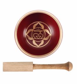 Tibetan Brass Singing Bowl - 1st Red Root Chakra Muladhara