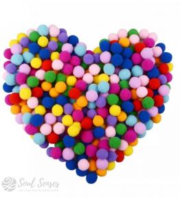 Aromatherapy Diffuser Locket Refill Inserts - Round Plain Felt Balls