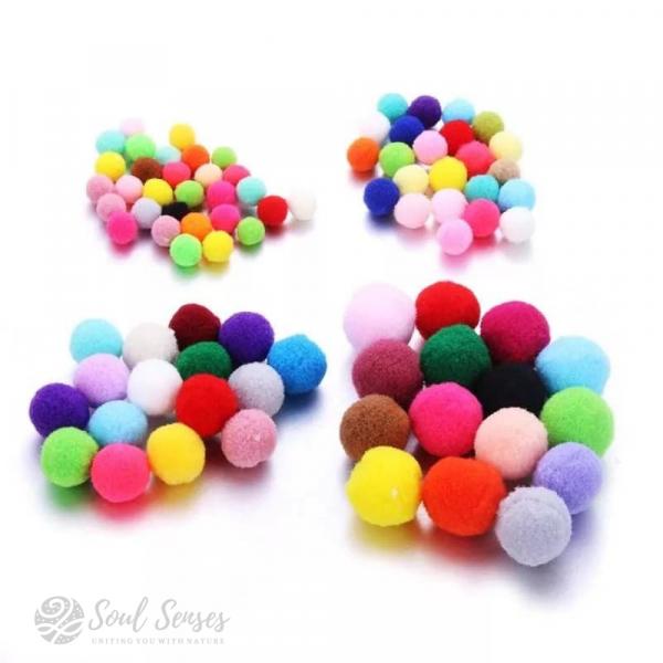 Aromatherapy Diffuser Locket Inserts Round Felt Balls various colours