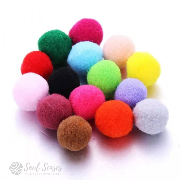 Essential Oil Diffuser Locket Inserts Round Felt Pompom Balls