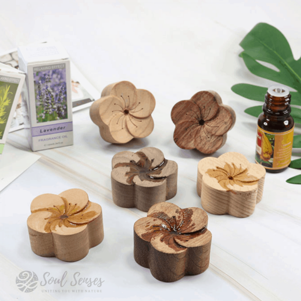 Essential Oil Aromatherapy Wooden Flower Diffusers