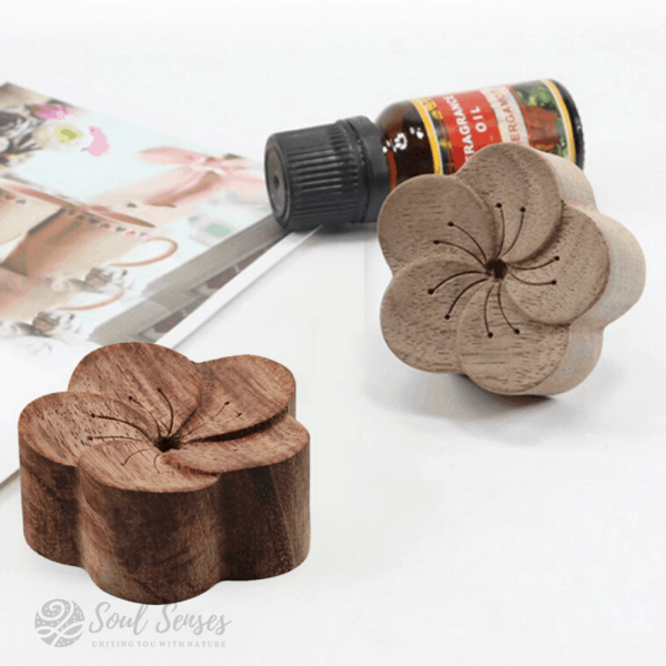 Essential Oil Aromatherapy Wooden Flower Diffusers - Walnut and Rosewood