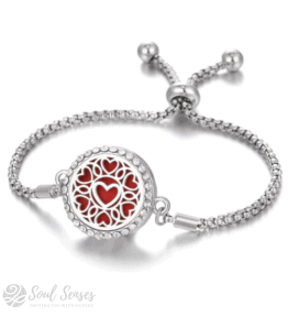 Essential Oil Aromatherapy Diffuser Bracelet - Hearts