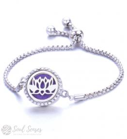 Essential Oil Aromatherapy Diffuser Bracelet - Lotus.