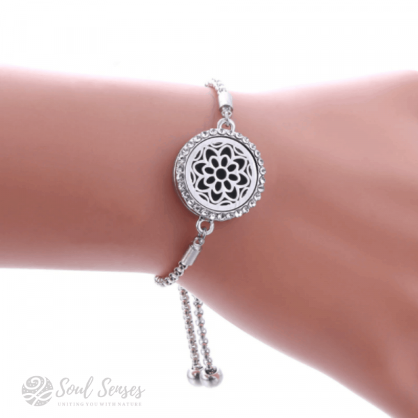 Essential Oil Aromatherapy Diffuser Bracelet in use