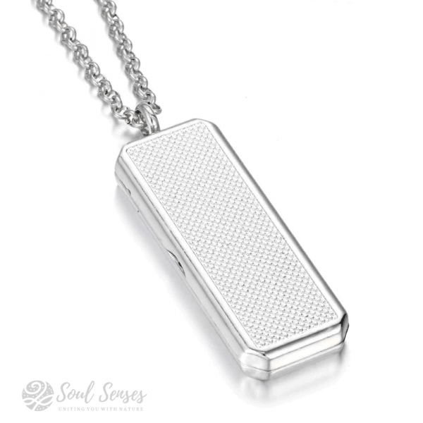 Essential Oil Aromatherapy Diffuser Rectangular Pendant - back view