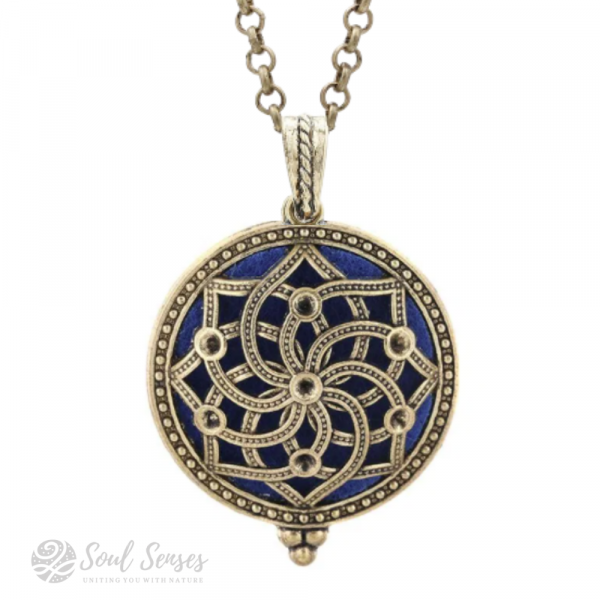 Essential Oil Aromatherapy Diffuser Round Vintage Locket - Bronze Mandala