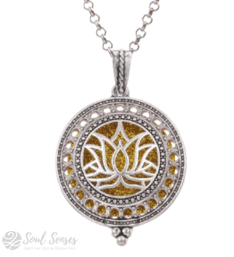 Essential Oil Aromatherapy Diffuser Round Vintage Pendant – Lotus