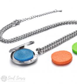 Aromatherapy Diffuser Locket Refill Inserts – Round Plain Felt Pads