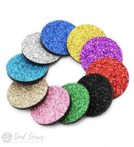Aromatherapy Diffuser Locket Refill Inserts – Round Glitter Felt Pads
