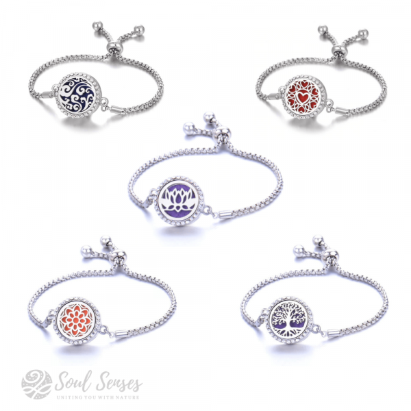 Soul Senses 5 Adjustable Aroma Bracelets