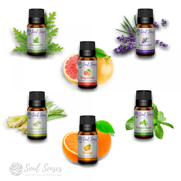Soul Senses 6 Essential Oils Range