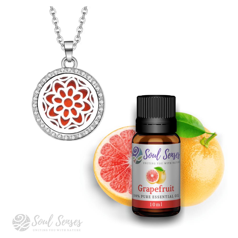 Mandala Small Round Pendant & Grapefruit Bundle Set
