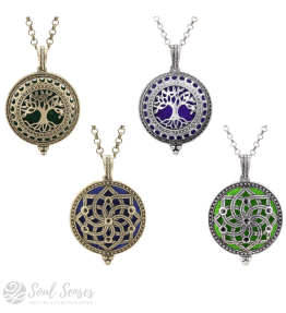 Soul Senses Large Vintage Aromatherapy Diffuser Pendants with Chain