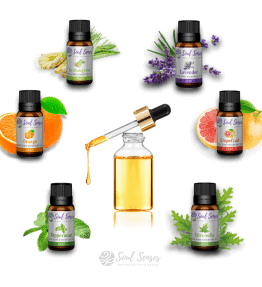 Essential Oils & Glass Pipette Oil Droppers Gift Bundle